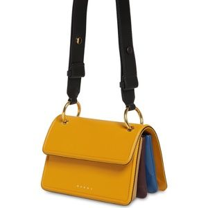 Marni small beat yellow shoulder bag